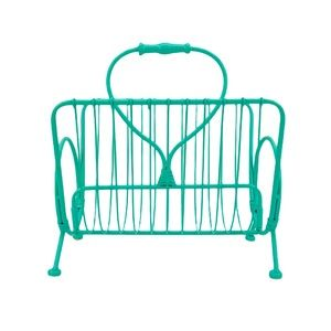NWOT Home Goods Teal Wired Magazine Holder